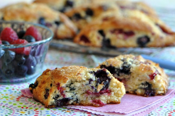 """Tender and fruity berry scone."""