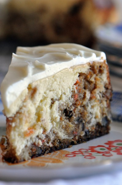 """Creamy, cheesy, cakey, carrot cake cheesecake"""