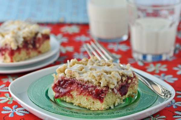 """Cherry-Almond Coffee Cake"""