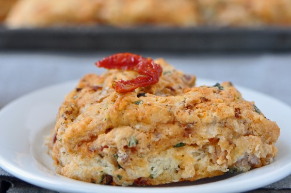 """Sun-dried Tomato and Sausage Scones"""