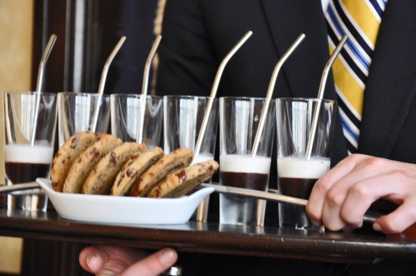 """Miniature Egg Creams served at Cyrus Restaurant"""