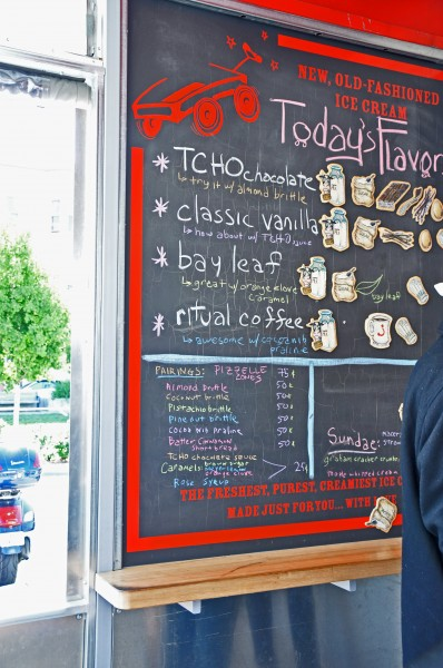 """Smitten Ice Cream in San Francisco serves fresh churned ice cream"""
