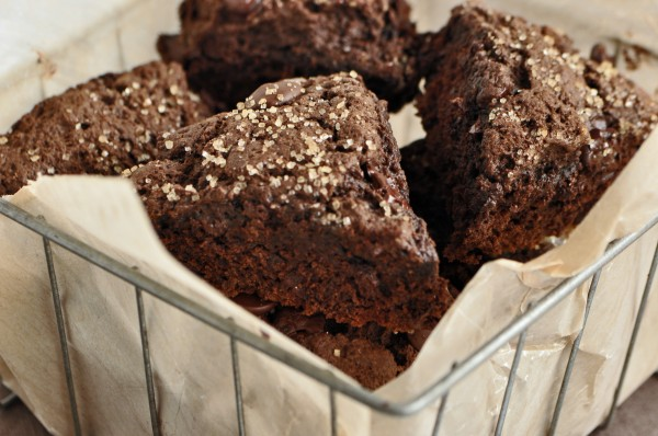 """Double Chocolate Scones with Cinnamon Butter"""