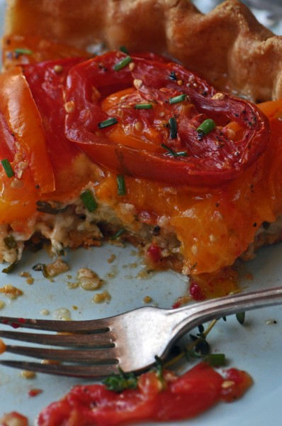 """Heirloom Tomato Pie Recipe"""