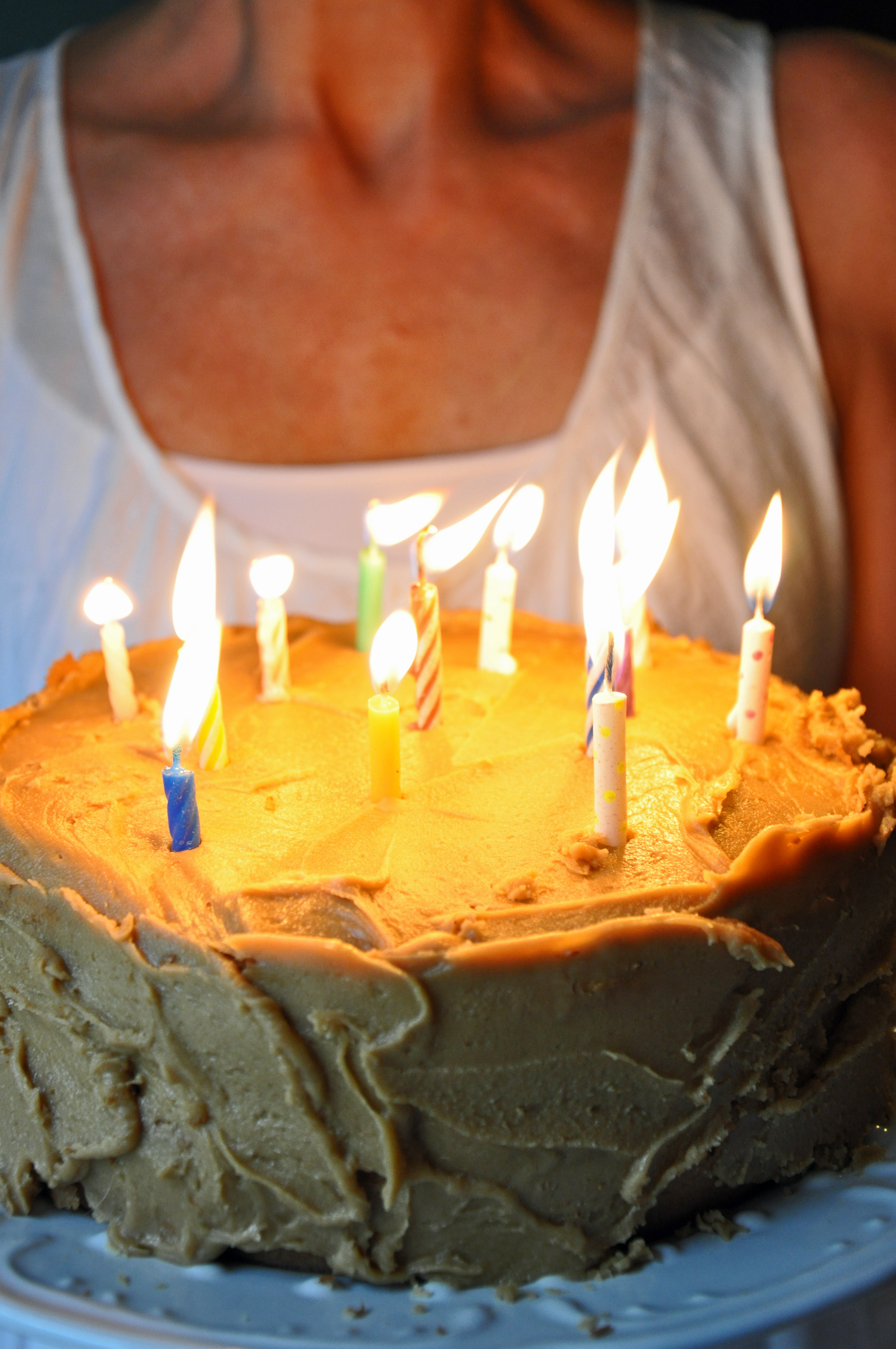 Yellow Birthday Cake With Caramel Frosting Baking Recipe