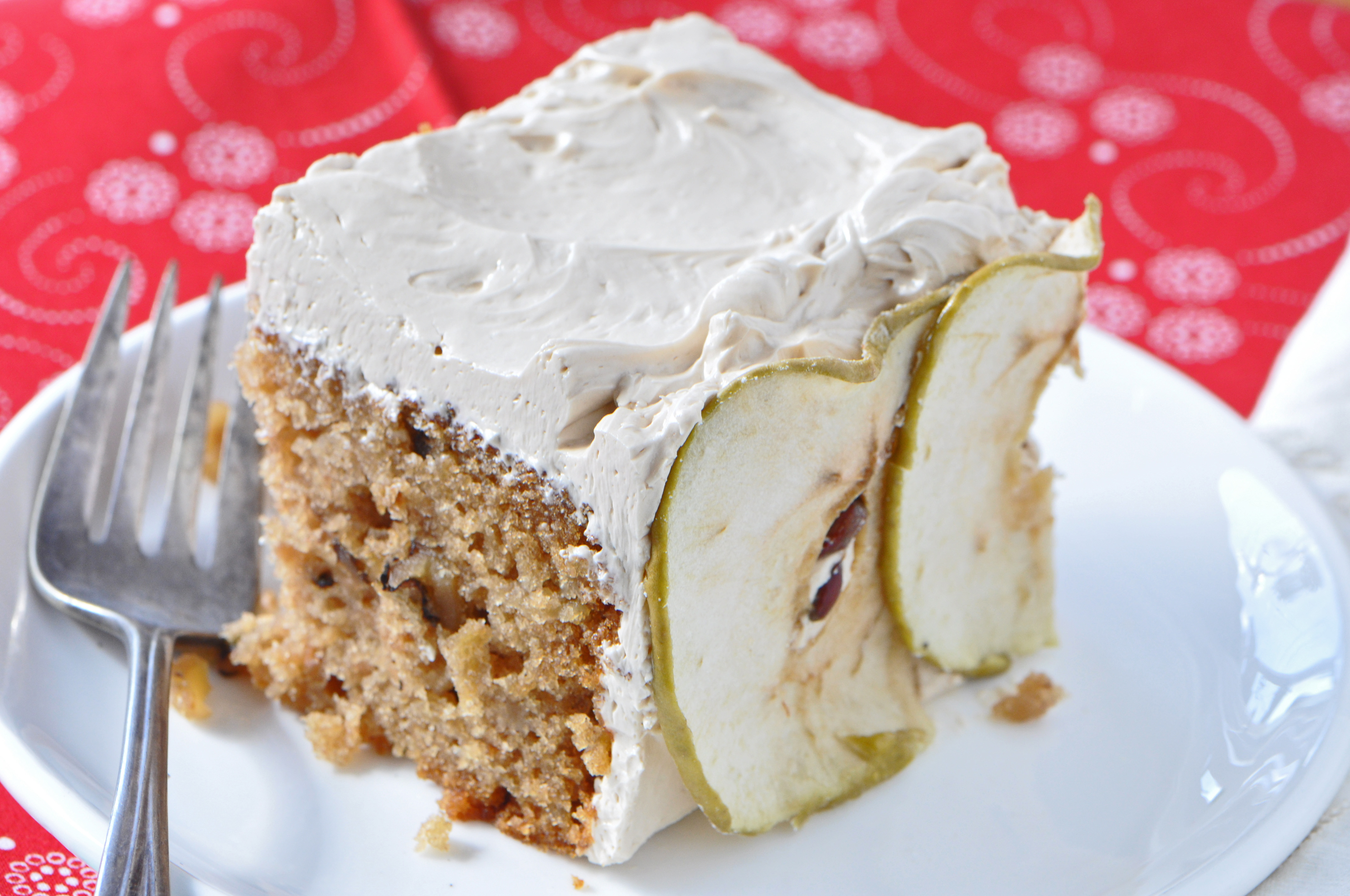 "12 thoughts on "" Apple Spice Cake with Brown Sugar Frosting """