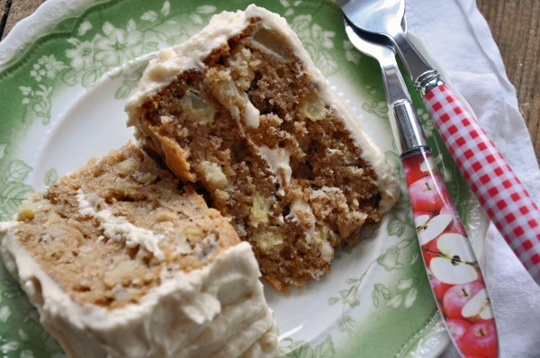 Apple Cake with Brown Butter Buttermilk Frosting