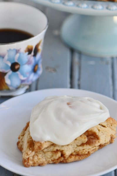 Iced Cinnamon Bun Scones Recipe