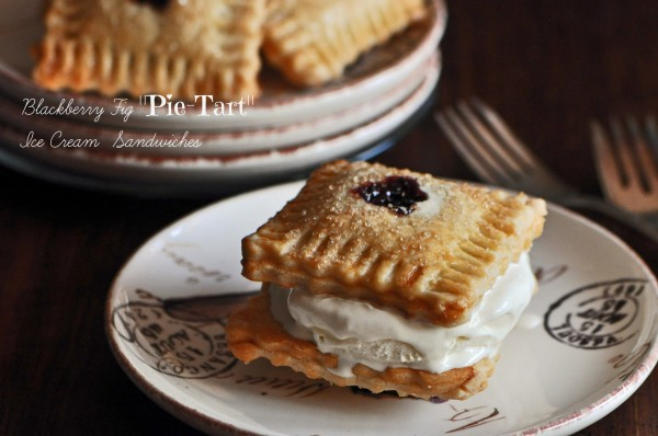 Blackberry Fig Pie-Tart Ice Cream Sandwiches