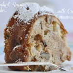 Apple Walnut Raisin Cake with Cream and Cinnamon Glaze Recipe