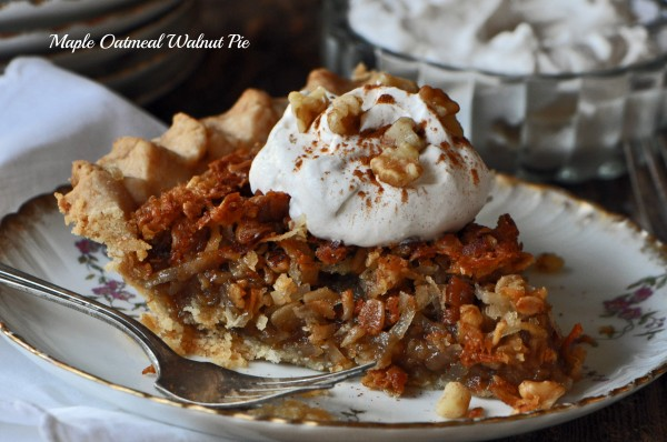 Maple Oatmeal Walnut Pie Recipe