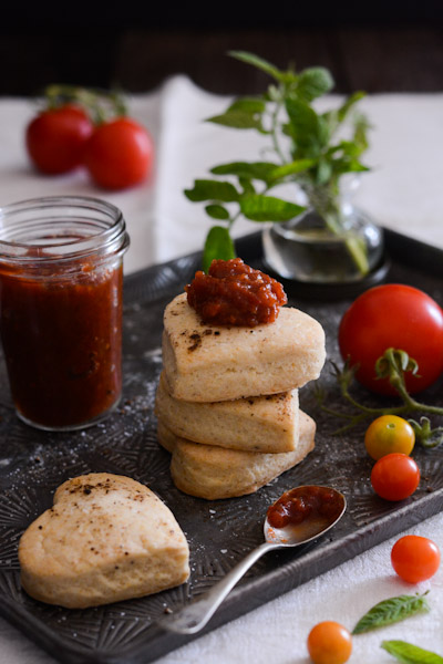 Duck Fat Biscuits with Spicy Tomato Jam Recipe