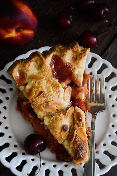 Peach Nectarine Cherry Pie Recipe