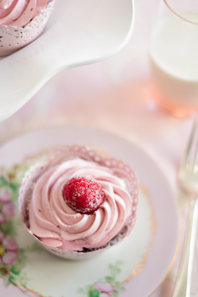 Black Cocoa Cupcakes with Raspberry Chambord Buttercream...and a ...