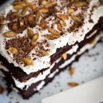 Chocolate Pumpkin Cake with Spiced and Spiked Whipped Cream Recipe