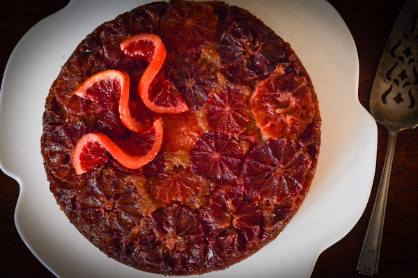 Upside-Down Blood Orange Polenta Cake Recipe