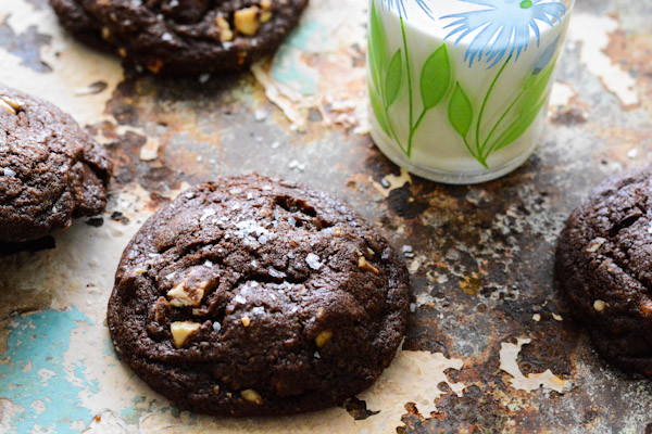Chocolate Chocolate Chip Cookies with Toffee and Cashews Recipe