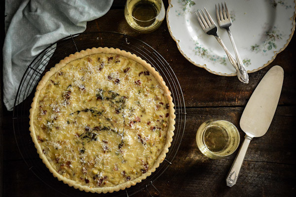 Cabbage, Leek, and Bacon Tart Recipe