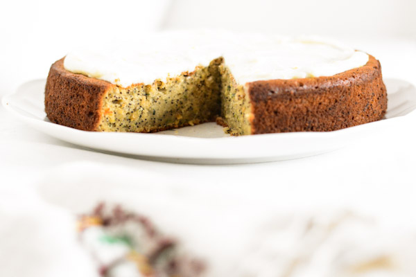 Zucchini, Lemon & Poppyseed Cake with Lemon Frosting : Sifting Focus