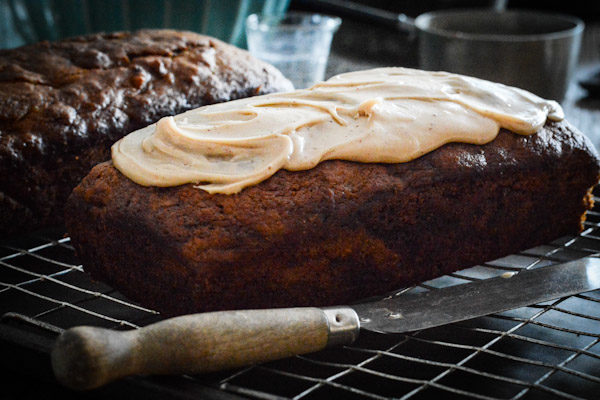 Pumpkin Bread with Brown Butter Maple Glaze Recipe