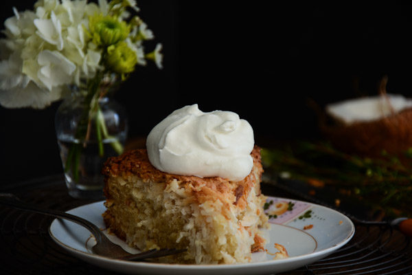 Triple Coconut Macaroon Cake Recipe