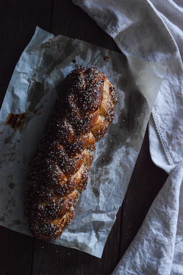 Challah Recipe with Everything Bagel Topping